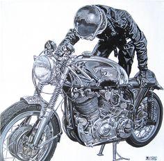 Vincent #graphic #design | caferacerpasion.com