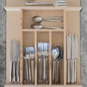 Custom Wood Cutlery Drawer Organizer - Wide - Squared Away, Organization Solutions Houston TX Drawer Organisers, Houston Tx, Custom Wood, Cutlery, Organize, Hardwood, Drawers, Organization, Kitchen