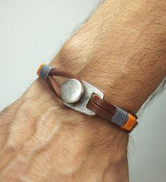 Unisex Bracelet Men's BraceletLeather Men Bracelet by ZEcollection