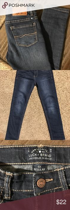 Lucky Brand Jeans Girls jeans in PERFECT condition!!  So cute on. Look great rolled or long. Lucky Brand Bottoms Jeans