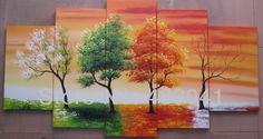 pinturas alegres de arboles - Buscar con Google
