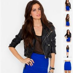 Blue and black color block