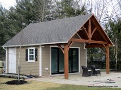 18x14 Century Custom Pool House with 18x8 Timber Frame Porch in Gwynedd Valley, PA