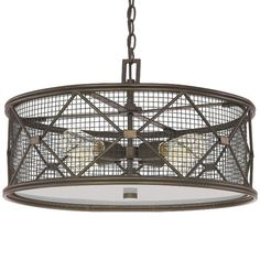 jackson oil rubbed bronze four light pendant capital lighting fixture company drum pendant