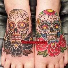 HiS and hers sugar skull