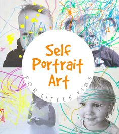 Self Portrait Art with Little Kids - Finished Toddler Self Portraits
