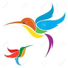 Vetor stock de Vector Hummingbird Design On White Background (livre de direitos) 134241491 Hummingbird, Illustration, Design, Painting, Sgraffito, Image, Paddle, Punch, Boat