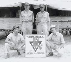 """Photos del Escuadrón 201 - The Escuadrón 201 was a Mexican fighter squadron, part of the Fuerza Aérea Expedicionaria Mexicana (FAEM — """"Mexican Expeditionary Air Force"""") that aided the Allied war effort during World War II."""