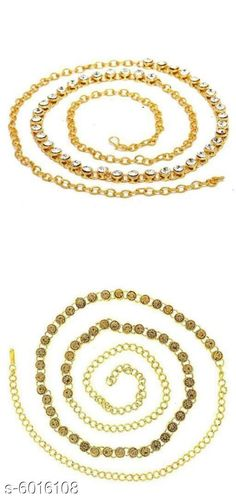 Kamarband and Belly Chains Stylish Women's kamarband Base Metal: Alloy Plating: Gold Plated Stone Type: Artificial Stones Type: Chain Multipack: 2 Sizes: Free Size Country of Origin: India Sizes Available: Free Size   Catalog Rating: ★4.1 (1748)  Catalog Name: Diva Fancy Women Kamarband CatalogID_912237 C77-SC1420 Code: 872-6016108-156