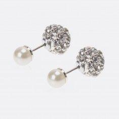 Boucles d'oreilles perle et boule de feu