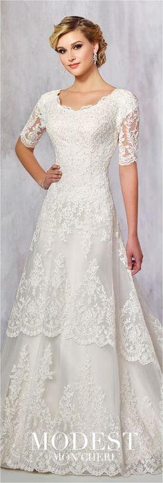 Lace Sleeves Wedding Dresses (5)