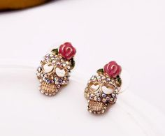 'Sparkling Skull Earrings FS' is going up for auction at  8am Mon, May 6 with a starting bid of $10.