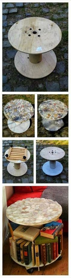 Make a table by recycling spool #upcycle #diy