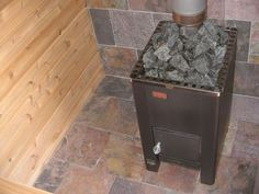 sauna wood burning stove Tortilla Press, Saunas, Wood Burning, Home Projects, Stove, Entertaining, Tub, Woods, Outdoors