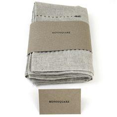 Gray-Dotted Hemp Towel