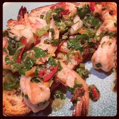 Living Deliciously in LA: Cook: Shrimp with Chili, Parsley, Ginger and Garli...
