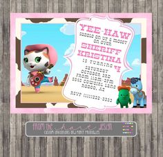 Disney Sheriff Callie's Wild West Birthday by FromTheHartDesign, $15.00