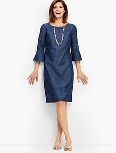 00e80f42d 15 Best Denim dress outfits images | Fashion clothes, Winter fashion ...
