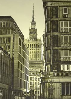 my first love, Warsaw Warsaw Poland, Bright Lights, No One Loves Me, Historical Photos, Vr, Big Ben, Buildings, Places To Visit, Europe