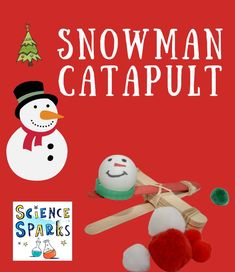 Snowman catapult - fun winter STEM and Christmas STEM activity for kids #WinterSTEM #SnowmanSTEM #ChristmasSTEM #ChristmasCrafts Steam Activities, Science Activities For Kids, Stem Science, Science Ideas, Science Experiments Kids, Activity Ideas, Educational Activities, Toddler Activities, Christmas Activities For Toddlers