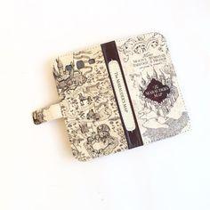 Book iphone wallet case- Harry Potter Marauders Map Book Wallet phone case - for iPhone 6, 6 plus, 6s, 6s plus, 5, 5s, 5c, iPhone 4, 4s- Samsung