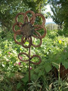 Rustic Horseshoe Sunflower
