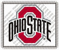 6 Round Cake- Ohio State University - Edible Cake or Cupcake Topper - D5444 by DecoPac -- Awesome products selected by Anna Churchill