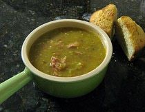 Green Tomato and Ham Soup. This looks similar to the one at Cracker Barrel, which is delicious!