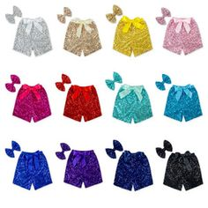 Girls Glittery Sequin Shorts with Bow Set for (Medium , Baby Pink) Boys White Jeans, Girls Jeans, Sparkle Shorts, Sequin Shorts, Jeans Dress, Jeans Pants, Jean Shorts, Baby Girl Jeans, New Baby Girls