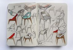 Clamp Chair sketch - Andreas Kowalewski #ChairSketch