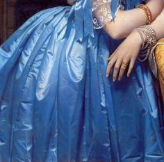 """""""Portrait of the Princess de Broglie"""" (1853) (detail) by Jean-Auguste-Dominique Ingres (1780-1867)."""