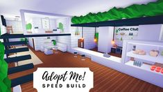 Tree House Plant Cafe + Home Speed Build 🌿 Roblox Adopt Me! Home Roblox, Futuristic Home, Tree House Designs, Cafe House, Cute Room Ideas, Roblox Pictures, House Plants Decor, Home Hacks, Luxury Apartments