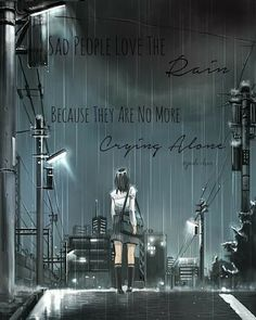 ImageFind images and videos about art, anime and rain on We Heart It - the app to get lost in what you love. Fanart Manga, Manga Art, Manga Anime, Anime Scenery Wallpaper, Anime Artwork, Wallpaper Art, Anime Triste, Japon Illustration, Sad Art