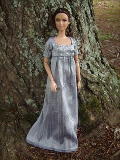 1815 Regency Ball Gown for Barbie Dolls OOAK Jane Austen DRESS ONLY  I own this gown!