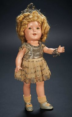 """Love, Shirley Temple, Collector's Book: 46 Shirley Temple Composition Doll in Studio-Made """"Little Miss Broadway"""" Costume"""