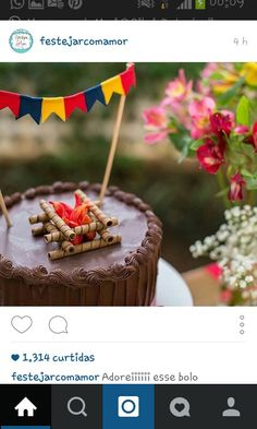 Festa Junina Birthday Decoration: Check out Inspiring Ideas - Birthday FM : Home of Birtday Inspirations, Wishes, DIY, Music & Ideas Unicorn Birthday Parties, Birthday Cake, Party Sweets, Happy Party, Snack Recipes, Snacks, Piece Of Cakes, Chocolate, Caramel Apples