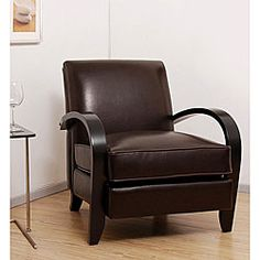 Bloomington Leather Chair Dark Brown $260....kind of like this one too