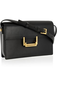 Perfect size black shoulder bag with gold hardware Saint Laurent | Lulu leather shoulder bag | NET-A-PORTER.COM