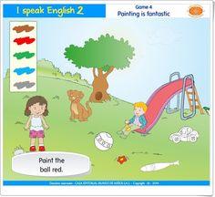 "I speak English 2: ""Painting is fantastic"" (Colores de Ed. Infantil) Esl, Painting, Teaching Resources, Learning, Colors, Painting Art, Paintings, Painted Canvas"