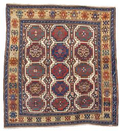 A Moghan Kazak rug, Southwest Caucasus approximately 6ft. 6in. by 6ft. (1.98 by 1.83m.) mid-19th century