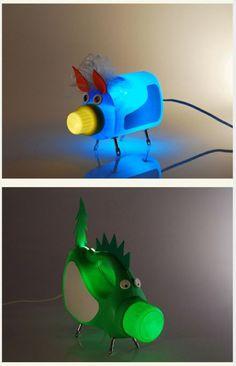 Crea ingeniosas lámparas reciclando botellas de plástico