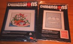 DIMENSIONS VINTAGE PATTERN KITS BASKET OF DAISIES NEEDLEPOINT & NET DARNING LACE