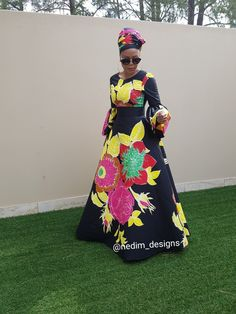Ankara Maxi dress  African Print  @nedim_designs
