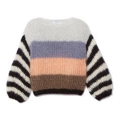 Color stripes mohair sweater blue and white Hand Knit mohair women sweater – Woo… Farbe Streifen Mohair Pullover blau und weiß Hand stricken Mohair Frauen Pullover – Wollpullover – Arm Kni Blue Sweaters, Wool Sweaters, Sweaters For Women, Mohair Sweater, Big Sweater, Ärmelloser Pullover, Winter Mode, Arm Knitting, Color Stripes