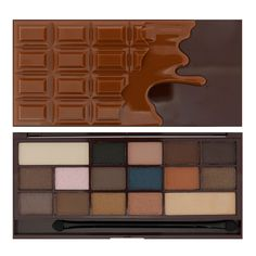 Too Faced Semi Sweet Chocolate Bar dupe...Makeup Revolution Salted Caramel Chocolate palette