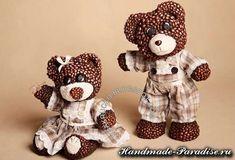 Medvědi jsou vyrobeny z papírová hmota a kávových zrn (2)