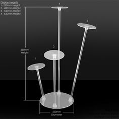 Acrylic hat display stand - four tier hat stand I like the shape of this one