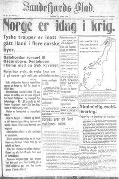 9. april 1940 - Norge er idag i krig.