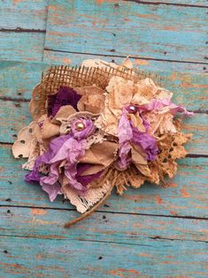 Purple Lavender Burlap and Lace/ Rustic by DolledandDazzled