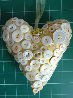 A break, at home...: More Button Hearts